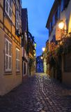 La rue de Colmar décorée pour Noël, Alsace, France photographie stock