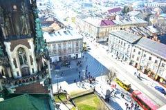 La rue de Lvov, région occidentale de l'Ukraine Photos libres de droits