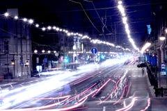 La rue de nuit photos libres de droits