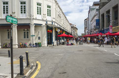 La rue de plage, Penang, Malaisie Photo stock