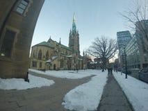 La rue de Toronto dans l'horaire d'hiver photo libre de droits