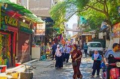 La rue du marché Image stock