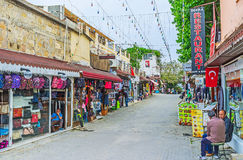La rue du marché dans le côté Photographie stock libre de droits