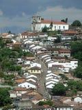 La rue et l'église Image libre de droits