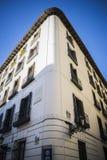 La rue la plus ancienne en capitale de l'Espagne, la ville de Madrid, son a Image libre de droits
