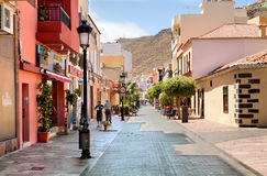 La rue principale du San Sebastian, Espagne Photographie stock libre de droits