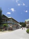 La rue principale sur l'île de la La Digue Image stock