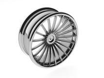 la rueda 3D pulió Fotografía de archivo libre de regalías