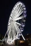 La rueda de Brisbane en la noche Foto de archivo libre de regalías