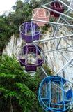 La rueda de ferris colorida Foto de archivo