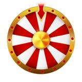 La rueda de la fortuna aisló el objeto del vector en el fondo blanco ilustración del vector