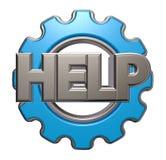 La rueda de la ayuda y de engranaje de la palabra libre illustration