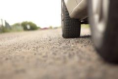 La rueda de un coche Fotografía de archivo