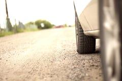 La rueda de un coche Imagen de archivo libre de regalías