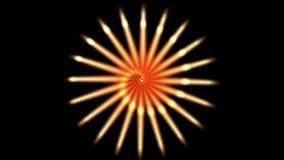 la rueda del fuego artificial 4k generó la flor espiral del arte del fractal, canal de la energía de la energía eólica ilustración del vector