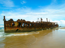 La ruina de Maheno Fotos de archivo