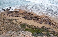 La ruina de la nave Ethel fotos de archivo