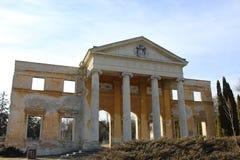 la ruina del castillo cerca de Alcsut Hungría foto de archivo