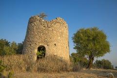 La ruine d'un moulin à vent Image stock