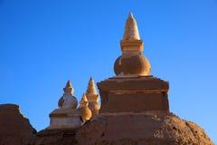 La ruine dans le désert Photographie stock libre de droits