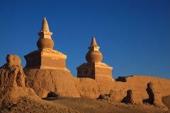 La ruine dans le désert Image stock