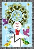 La runa del sole Immagine Stock