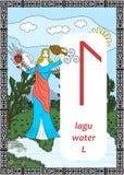 La rune de l'eau Photo stock
