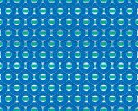 La ruota blu con le strisce verdi Fotografia Stock Libera da Diritti