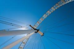 La ruota dell'occhio di Londra sulla Banca del sud del Tamigi, Londra, Uni Fotografia Stock