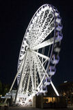 La ruota di Brisbane alla notte Fotografia Stock Libera da Diritti