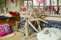 La ruota di filatura Immagini Stock