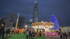 La ruota di Hong Kong Observation al grande carnevale europeo 2014, Hong Kong Fotografia Stock