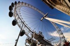 La ruota di millennio di Londra Fotografie Stock Libere da Diritti