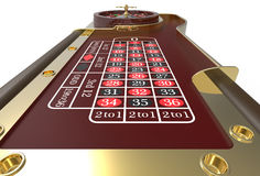 La ruota di roulette del casinò 3D rende Fotografie Stock