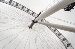 La ruota panoramica dell'occhio di Londra Fotografia Stock Libera da Diritti