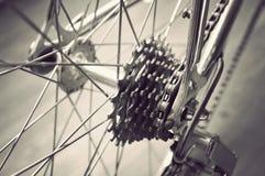 La ruota posteriore della bicicletta Fotografia Stock Libera da Diritti
