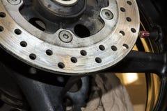 La ruota posteriore mette in mostra la bici Immagine Stock