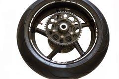 La ruota posteriore mette in mostra la bici Fotografia Stock Libera da Diritti