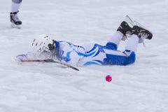 LA RUSSIA, ARCANGELO - 14 DICEMBRE 2014: la lega di hockey arcuata, Russia dei primi bambini della fase Immagine Stock Libera da Diritti