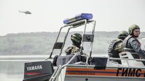 La Russia, Belgorod, il 25 luglio 2016: esercizi delle unità militari speciali infuri la base catturata in vari modi Immagini Stock Libere da Diritti