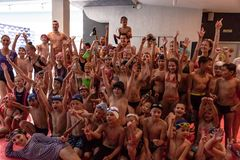 La Russia, Chabarovsk - 31 agosto 2018: giorno di Nettuno di festa del ` s dei bambini immagini stock libere da diritti