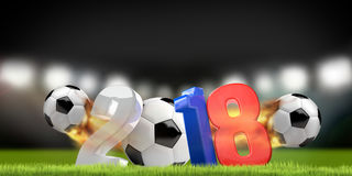 La Russia 2018 3D rende lo stadio di calcio di simbolo Fotografie Stock