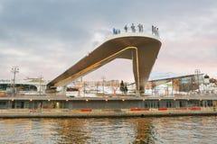 La Russia, ` del ponte di barche del ` a Mosca Fotografia Stock Libera da Diritti