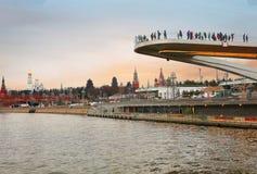 La Russia, ` del ponte di barche del ` a Mosca Immagini Stock Libere da Diritti