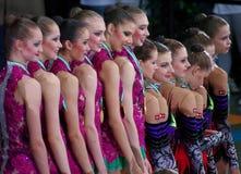 La Russia ed il Belarus sul podio Fotografia Stock