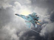 La Russia ha fatto l'aereo da caccia Fotografie Stock