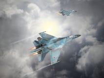 La Russia ha fatto l'aereo da caccia Immagini Stock Libere da Diritti