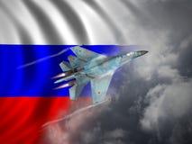 La Russia ha fatto l'aereo da caccia Fotografia Stock Libera da Diritti