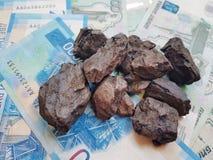 La Russia ha il reddito principale dalla vendita di carbone esportatrice universalmente fotografia stock libera da diritti