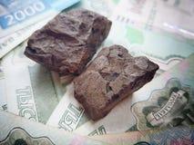 La Russia ha il reddito principale dalla vendita di carbone esportatrice universalmente fotografie stock